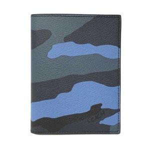Coach Men's Passport Case Camo Blue Multi Walllet
